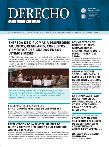 Tapa de Derecho al Día - Edición 206