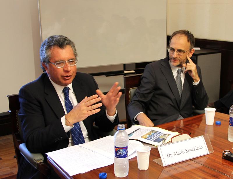 Mario Spazziano y Carlos F. Balbín