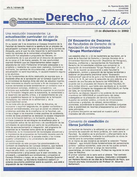 Tapa de Derecho al Día - Edición 21