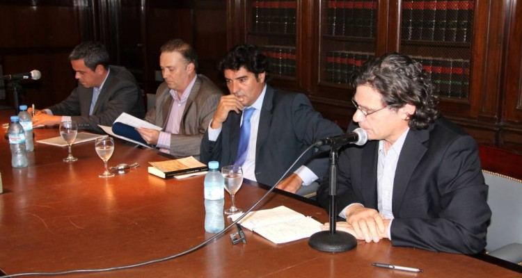 Diego Armesto, Andrés Gil Domínguez, Alejandro Slokar y Roberto Gargarella