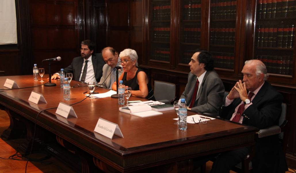 Carlos Mas Velez, Eugenio Raúl Zaffaroni, Mónica Pinto, Raúl Gustavo Ferreyra y Ricardo Gil Lavedra