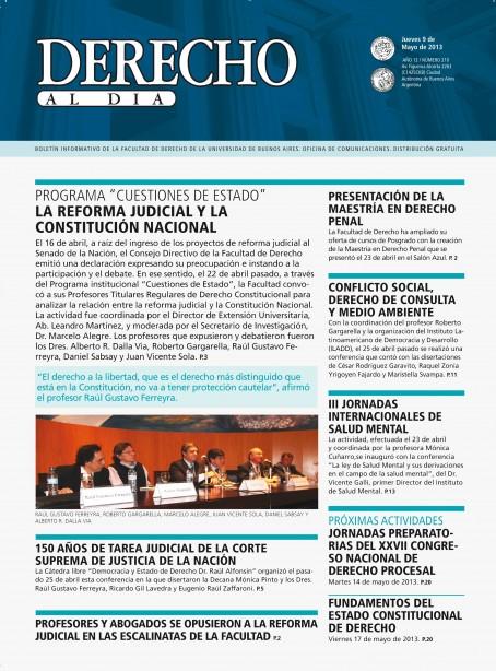 Tapa de Derecho al Día - Edición 210