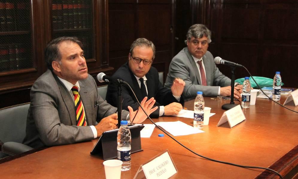 Calogero Pizzolo, Tomaso Edoardo Frosini y Marcelo Figueiredo