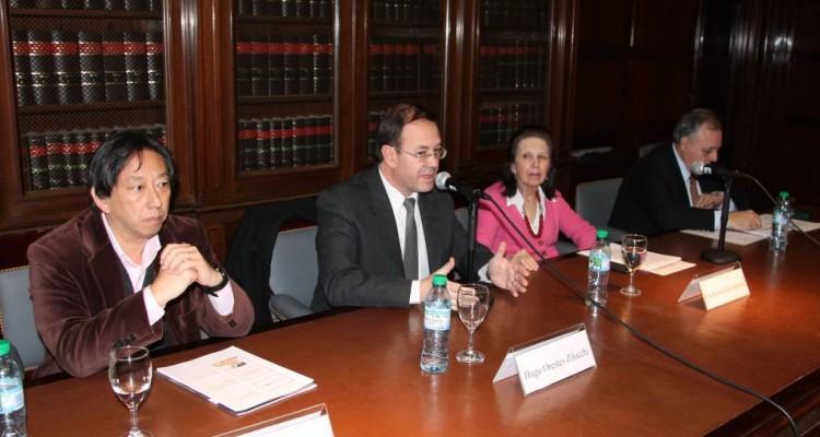 Ricardo Hara, Hugo Orestes Zilocchi, Eve Rimoldi de Ladmann y Omar Álvarez