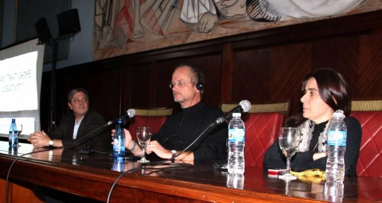 Marcelo Alegre, Lawrence Lessig y Beatriz Busaniche