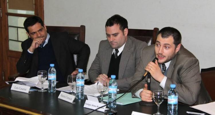 Luis Casarini, Martín Cormick y Enrique Alonso Regueira