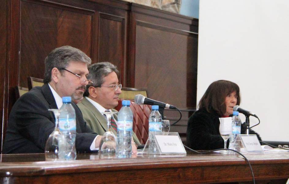 Mario Fera, Sergio Delgado y Lucila Larrandart
