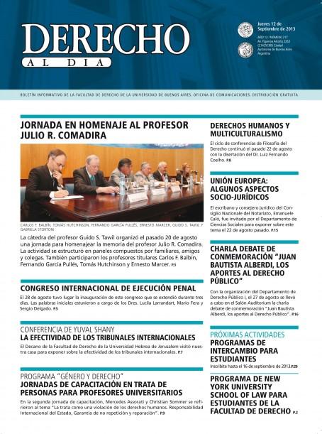 Tapa de Derecho al Día - Edición 217