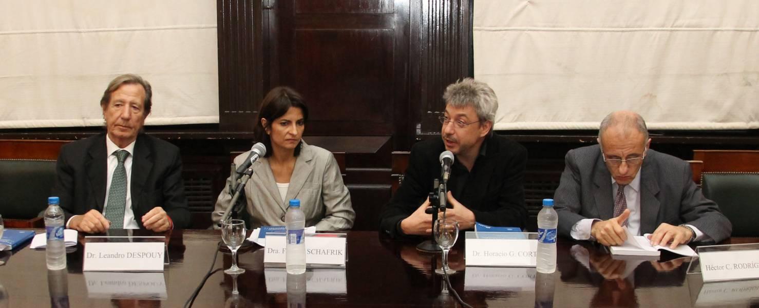 Leandro Despouy, Fabiana Schafrik, Horacio G. Corti y Héctor C. Rodríguez