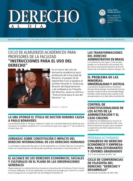 Tapa de Derecho al Día - Edición 220