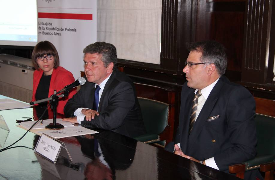 Ewa Majkut, Jacek Bazanski y Calogero Pizzolo