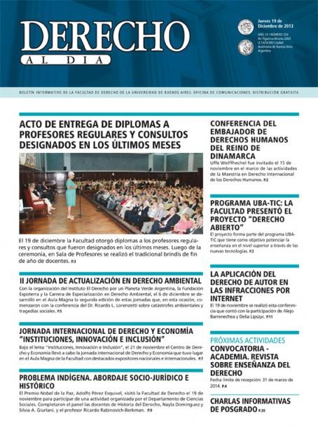 Tapa de Derecho al Día - Edición 224