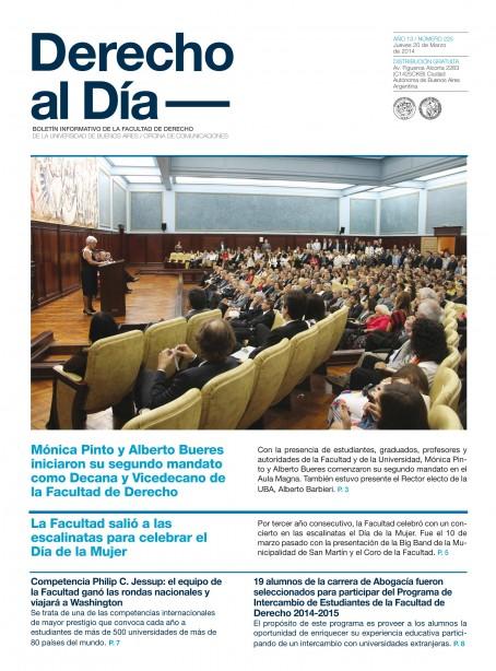 Tapa de Derecho al Día - Edición 225
