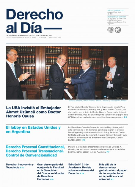Tapa de Derecho al Día - Edición 227