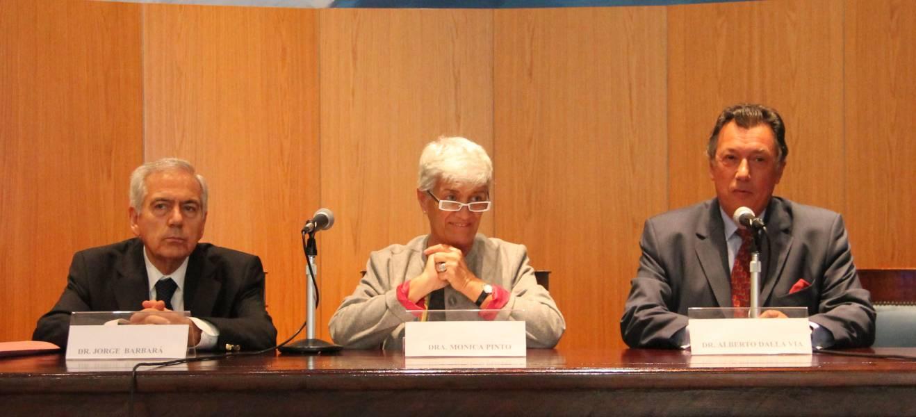 Jorge E. Barbará, Mónica Pinto y Alberto R. Dalla Via