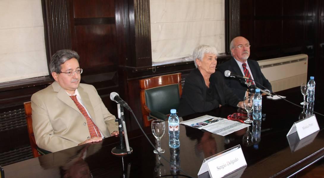 Sergio Delgado, Mónica Pinto y Adrián Goldin