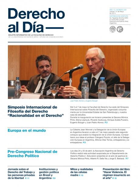 Tapa de Derecho al Día - Edición 229