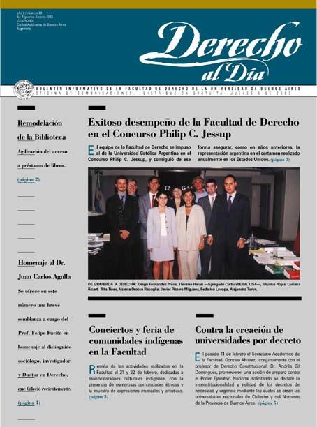 Tapa de Derecho al Día - Edición 23