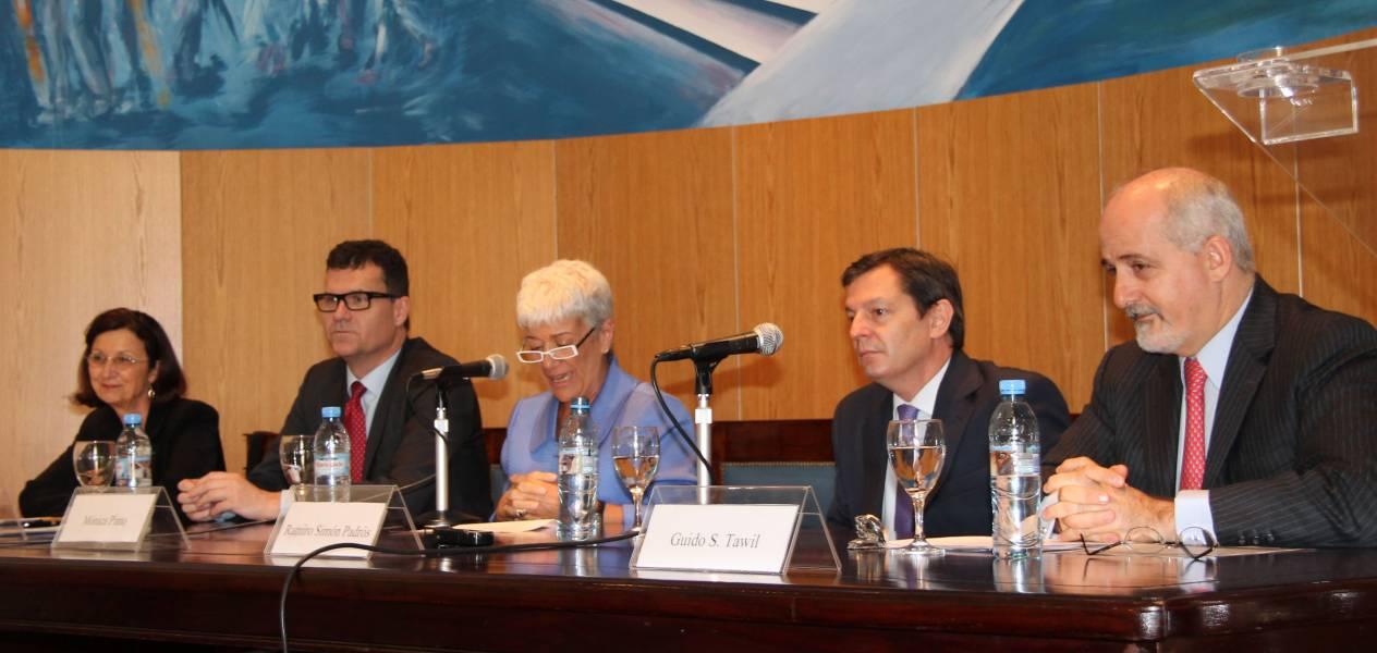Heléne Mazeran, Jean François Guéganno, Mónica Pinto, Ramiro Simón Padrós y Guido S. Tawil