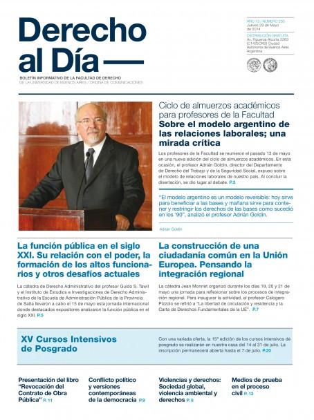 Tapa de Derecho al Día - Edición 230