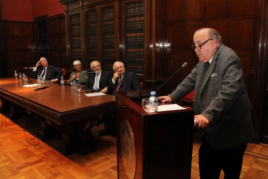 Enrique Bulit Goñi, Mónica Pinto, Luis F. Lozano, Jorge H. Damarco y José Osvaldo Casás