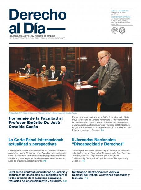 Tapa de Derecho al Día - Edición 231