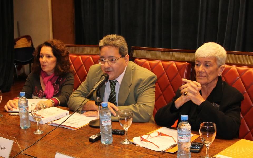 Cristina Caamaño, Sergio Delgado y Mónica Pinto