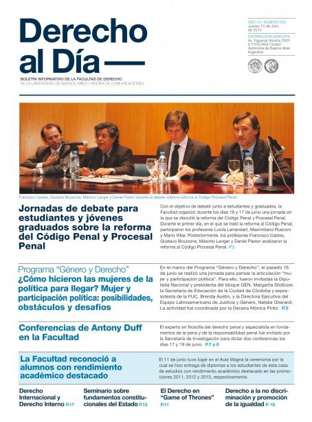 Tapa de Derecho al Día - Edición 233