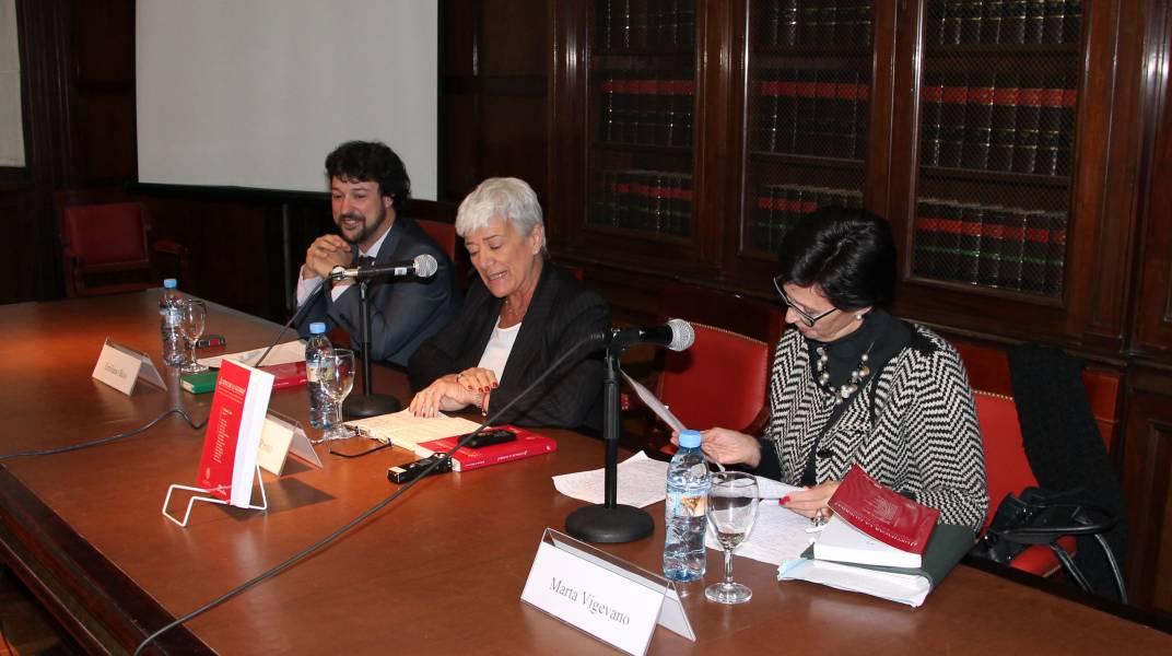 Emiliano J. Buis, Mónica Pinto y Marta Vigevano