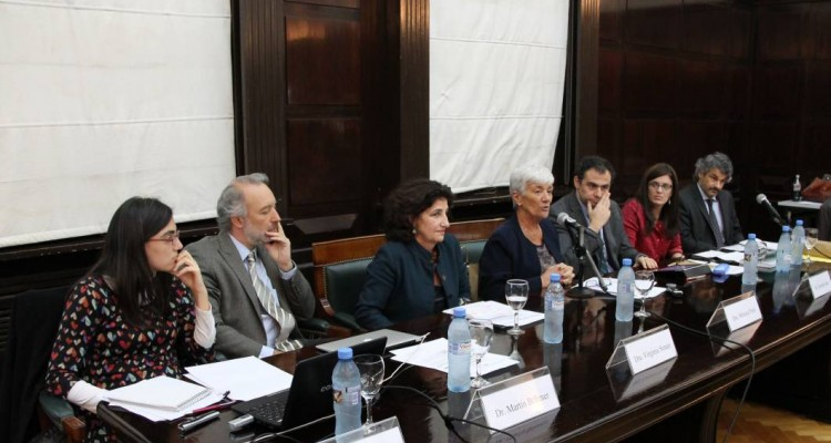 Roberta Ruiz, Martín Böhmer, Virginia Simari, Mónica Pinto, Roberto Saba, Paola Bergallo y Leandro Vergara