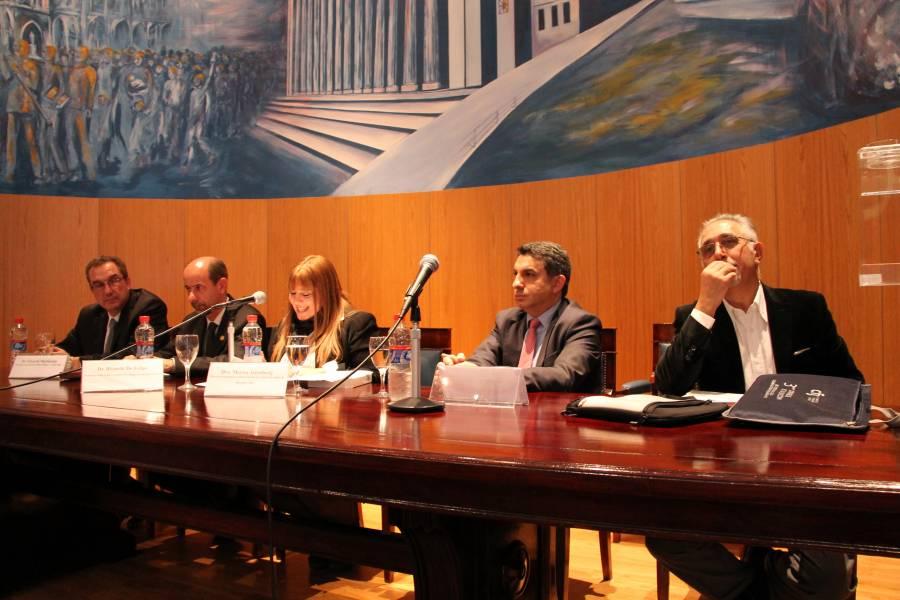 Eduardo Martiarena, Ricardo De Felipe, Marisa Aizenberg, Alejandro Gómez y Eduardo Molina Quiroga