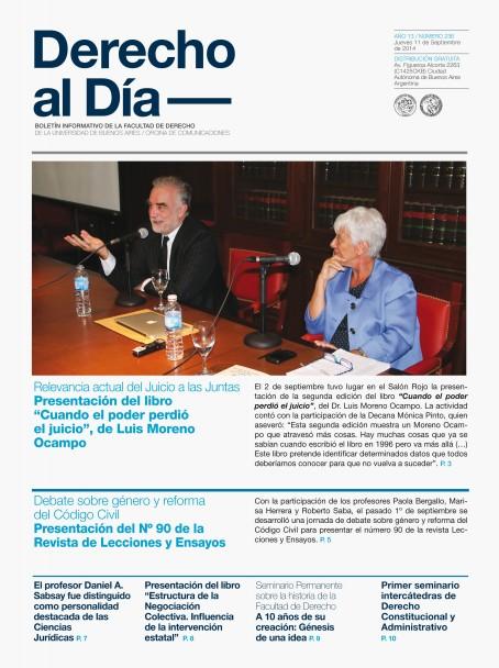 Tapa de Derecho al Día - Edición 236
