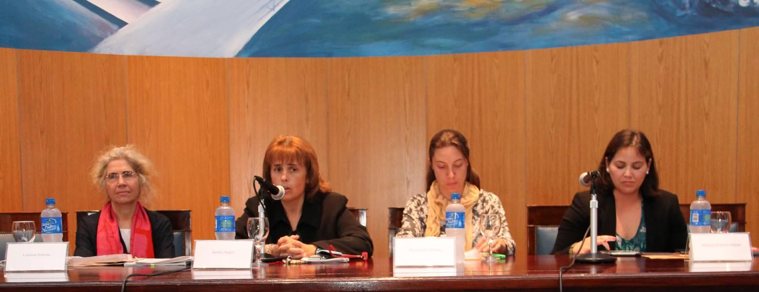 Lorenza Sebesta, Sandra C. Negro, María Isabel Morin y Adriana Alegrett Salazar