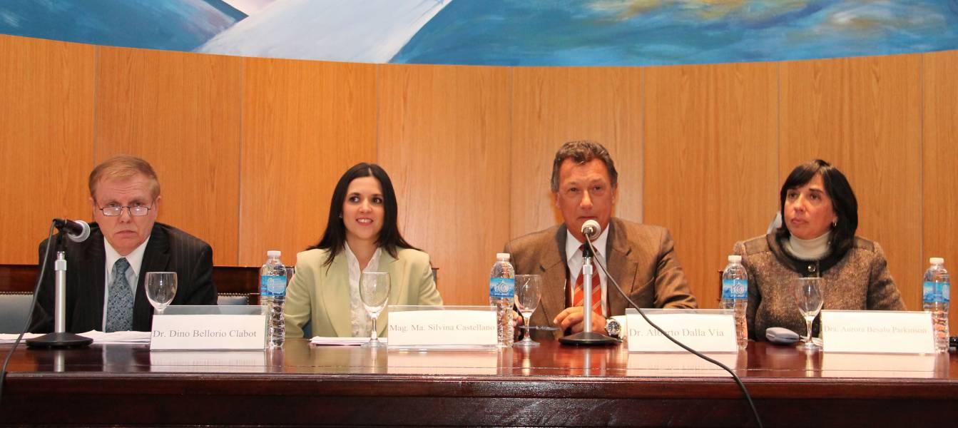 Dino Bellorio Clabot, María Silvina Castellano, Alberto R. Dalla Via y Aurora Besalú Parkinson