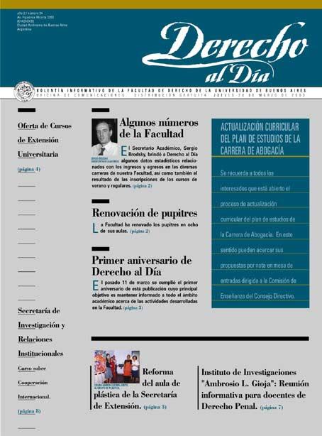 Tapa de Derecho al Día - Edición 24