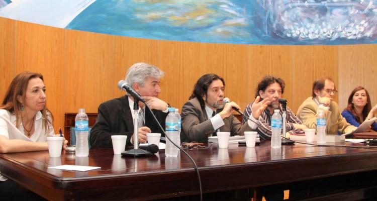 Andrea Gastron, Rubén Donzis, Ricardo Rabinovich-Berkman, Eugenio Polisly, Carlos A. Drocchi y Mercedes de la Torre