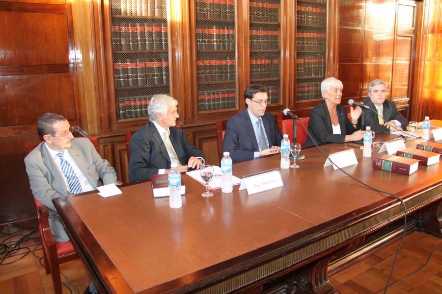 Luis D. Crovi, Alejandro Carrió, Julio César Rivera (h), Mónica Pinto y Fernando Toller