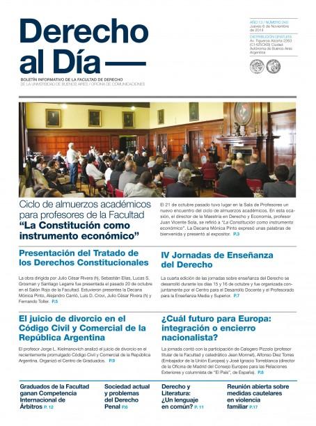 Tapa de Derecho al Día - Edición 240