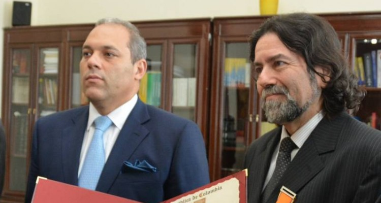 El Presidente del Senado, José David Name Cardozo y Ricardo Rabinovich-Berkman