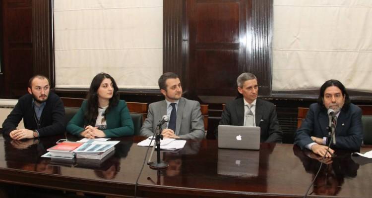 Gogi Gaprindashvili, Nino Phiphia, Guela Sekhniachvili, Luis Palma y Ricardo Rabinovich-Berkman