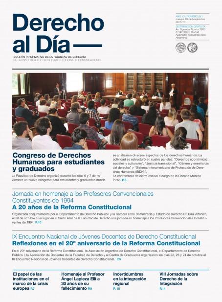 Tapa de Derecho al Día - Edición 241