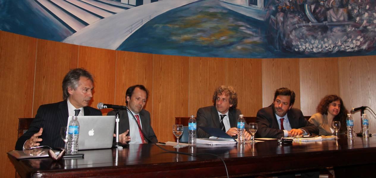 Fernando Díaz Cantón, Francisco Castex, Marcos Salt, Maximiliano Rusconi y Mary Beloff