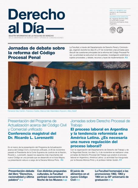 Tapa de Derecho al Día - Edición 242