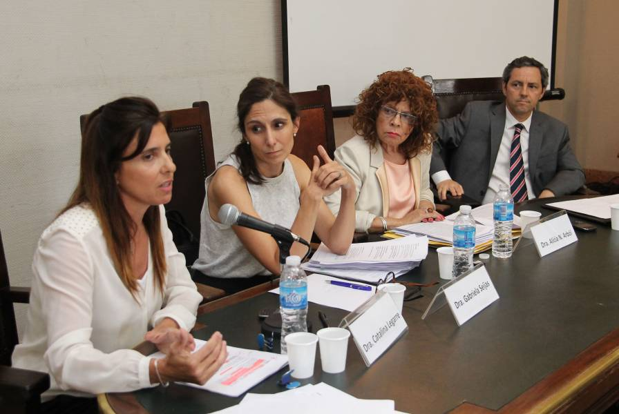Catalina Legarre, Gabriela Seijas, Alicia N. Arból y Gonzalo Riobó