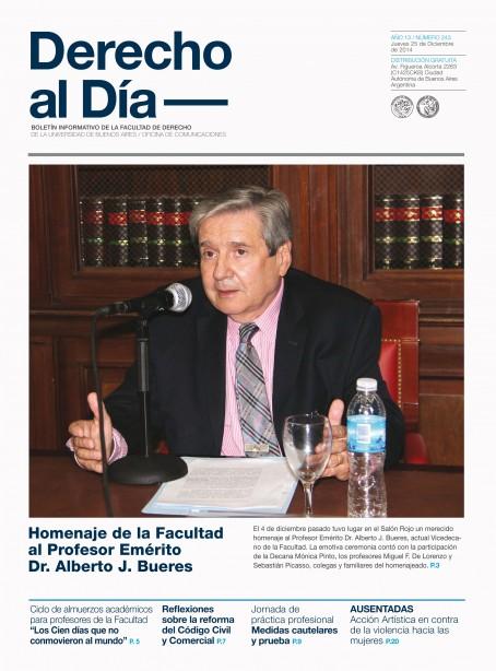 Tapa de Derecho al Día - Edición 243