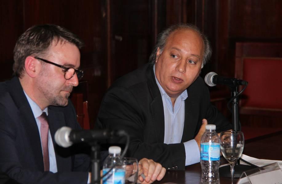 Bernard Duhaime y Víctor Abramovich