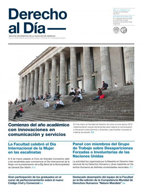 Tapa de Derecho al Día - Edición 244