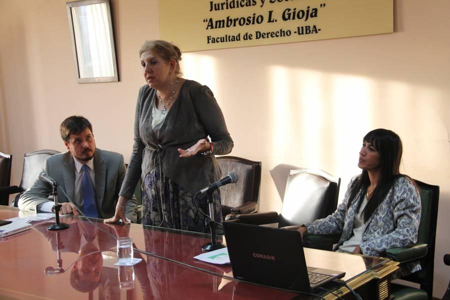Sebastián Barocelli, Lidia Garrido Cordobera y Natalia Torres Santomé