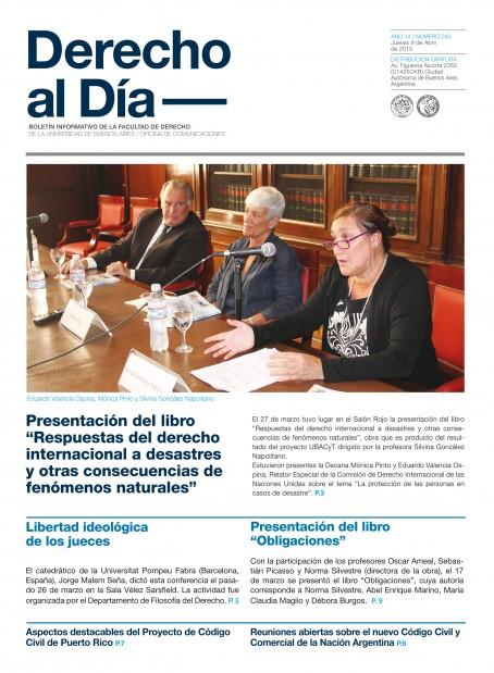 Tapa de Derecho al Día - Edición 245