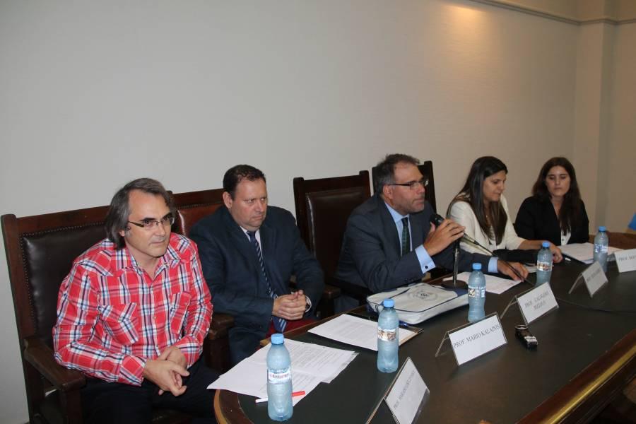 Mariano Liszczynsky, Mario Kalanis, Calogero Pizzolo, Elena Gómez y Sofía Tonelli